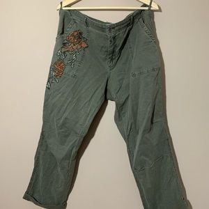 Anthropologie Embroidered 'the wanderer' pants